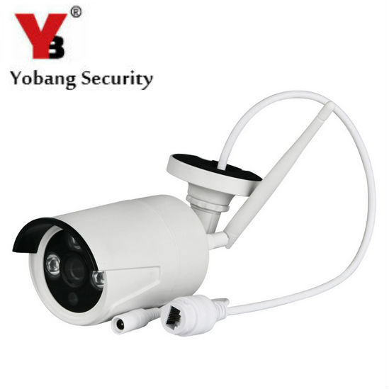 YobangSecurity Bullet 720P HD Waterproof Outdoor Home Security IP Camera,Wireless WiFi Network Cam,Night Vision,Motion Detection wireless wifi hd 720p 1 0mp 32g sd ip bullet camera white metal waterproof security outdoor 36ir night vision phone setting