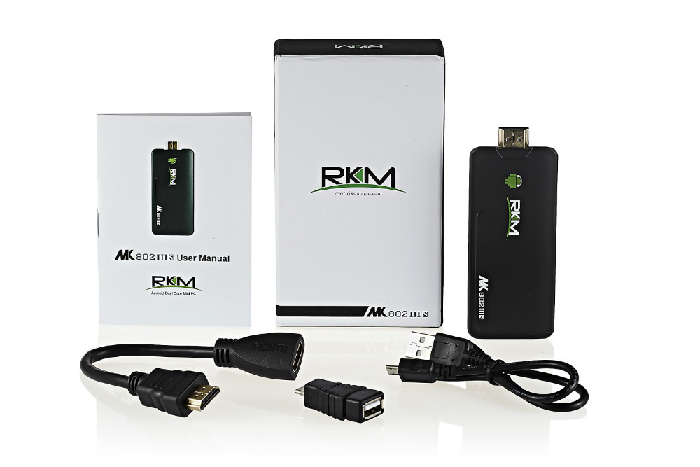 RKM MK802IIIS Mini PC Blue Tooth Mobile Remote Control RK3066 Cortex A9 1GB RAM 8G ROM HDMI [S8B]
