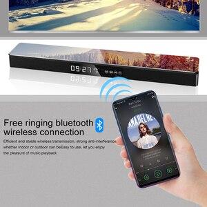 Image 5 - 블루투스 사운드 바 미니 칼럼 듀얼 스피커 사운드 바 시스템 tv 홈 시어터 3d 스테레오 dsp 서라운드 서브 우퍼 nfc/파이버/usb/rac