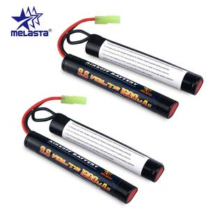 Melasta 2Pack 8S 2/3A 9.6v 1600mAh Butterfly NunChuck NIMH Battery Pack with Mini Tamiya Connector for Airsoft Guns ICS CA TM JG(China)