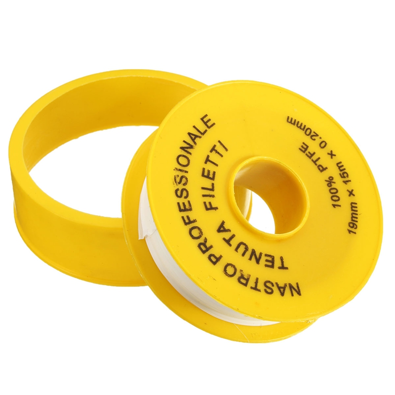 The Best Quality White Thread Seal Tape PTFE Pipe Threaded Sealing Tape Joint Seal 19mm x 15m x 0.2mm