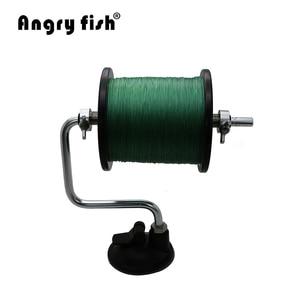 Image 2 - Angryfish przenośna aluminiowa żyłka linia Winder szpuli szpula System narzędzie walki przyssawka Sea Carp narzędzia wędkarskie