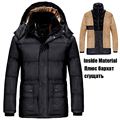 6XL 7XL 8XL 9XL Winter Coat Jacket Men Windproof Faux Fur Down Jackets Hooded Thickening Parka Velvet Windbreaker Men/Male DJ012