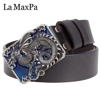 Fashion Men Belt Gift Men S Genuine Leather Belt Dragon Buckle Train Your Dragon Belt Square