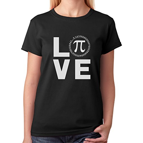 Online T Shirt Design Graphic Crew Neck I Love Pi - Happy Pi Day Geeky Math Celebration Short Sleeve Tees For Women