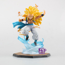 New Boxed PVC Dragon Ball Z Super Saiyan 3 Gotenks Action Figure Cool Gotenks Fighting Toy For Kids Gift