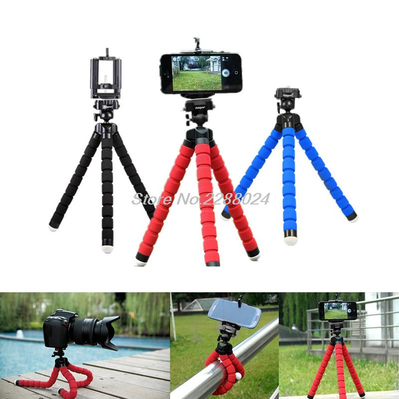 Hot Sale Car Phone Holder Flexible Octopus Tripod For samsung Galaxy core 2 Ace 3 4 Win pro S2 S4 Zoom Style Duos Trend Duos SL