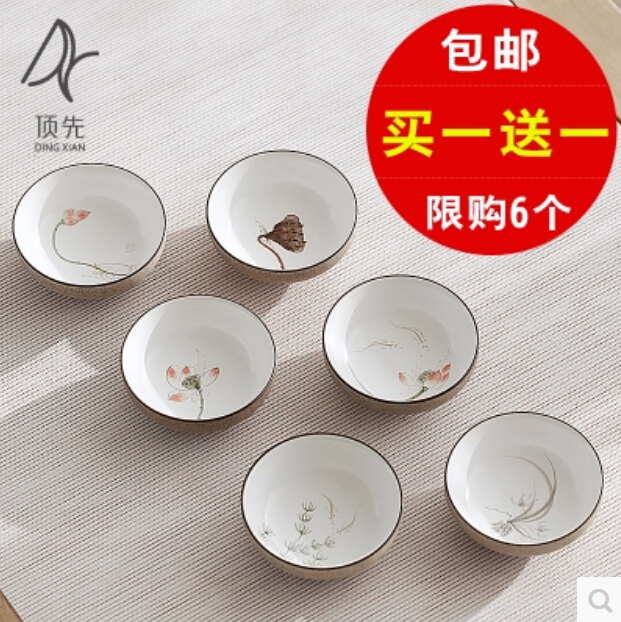 Ceramic Dingzao Cu-P Single Thick Ps Kung-Fu Ming Hand-Painted Jingdezhen