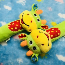 Baby Lathe Hanging Ring Animal Rattle Crib Stroller Toys Teethers Stuffed Doll