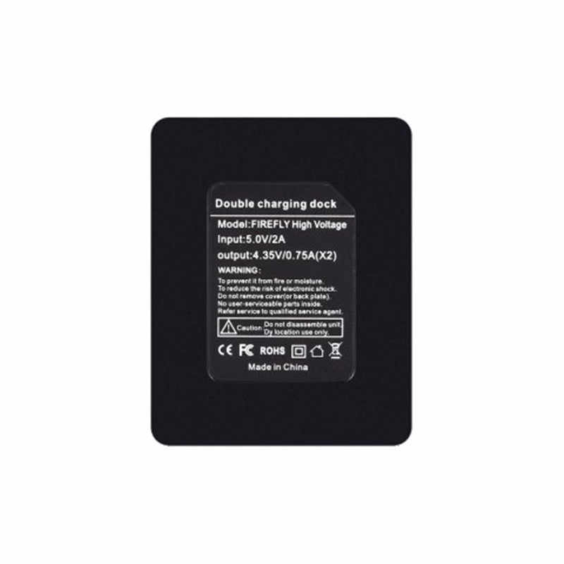 Высокое качество 5 V Высокая Напряжение двойной Батарея Зарядное устройство для соколиный глаз Firefly 8 s Action Камера с светодиодный свет