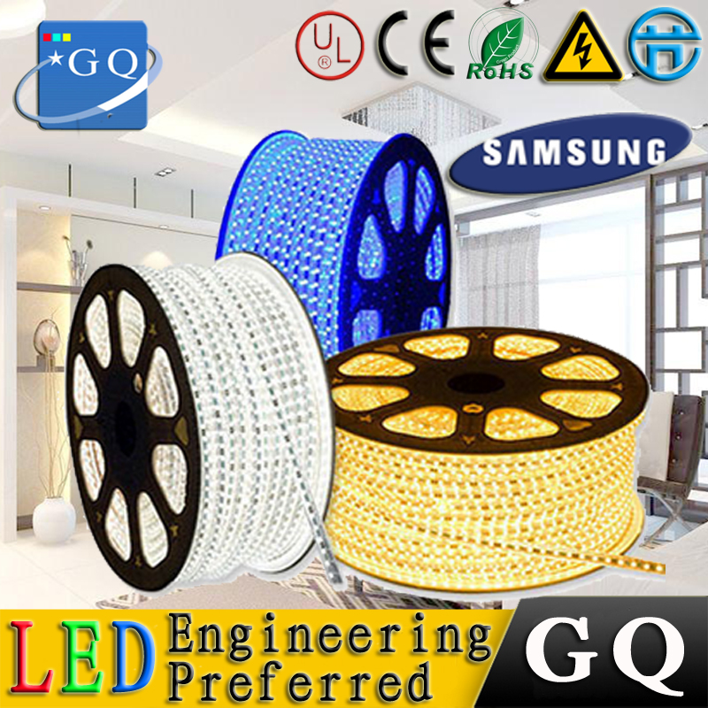 CP 1-10m 5050 LED strip 110v 120V 130V 220v 230v 240v 60LEDS / m led strip ribbon tape bundle string lighting lamp