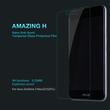 2017 NILLKIN Amazing H Nanometer Anti-Explosion Tempered Glass Screen Protector For Asus Zenfone 3 Max ZC520TL 9H 0.3mm Film