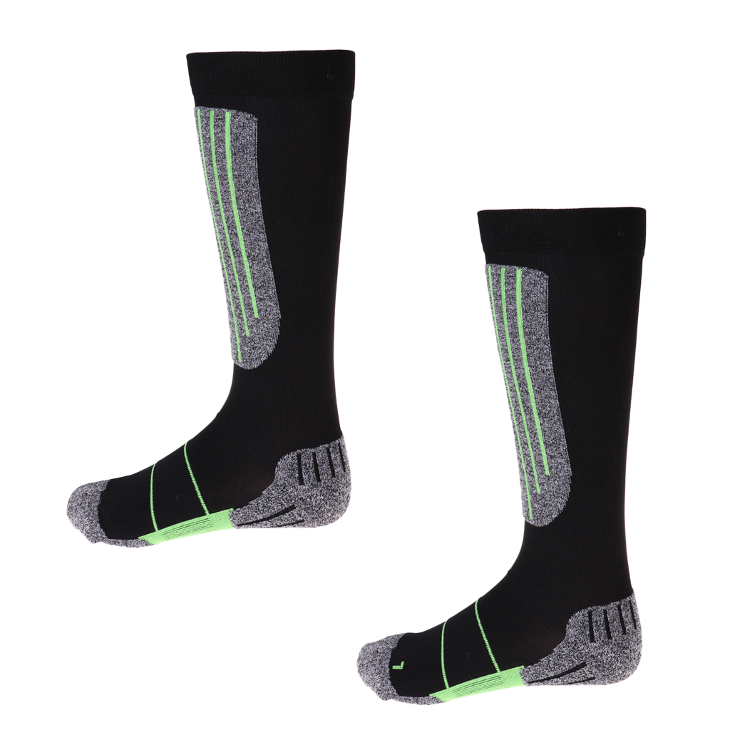 Compression Lightweight Thermal Padded Long Ski Socks Snowboard Boot Socks Both for Women Men