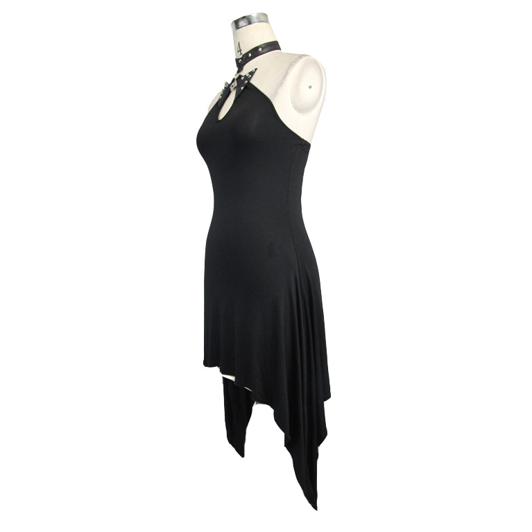 27c0664a8410 Stretch Estivo Vestito Nero Di Donne Modo Abiti Le Backless Sexy Casual Per  Devil Punk xv4ZqxO