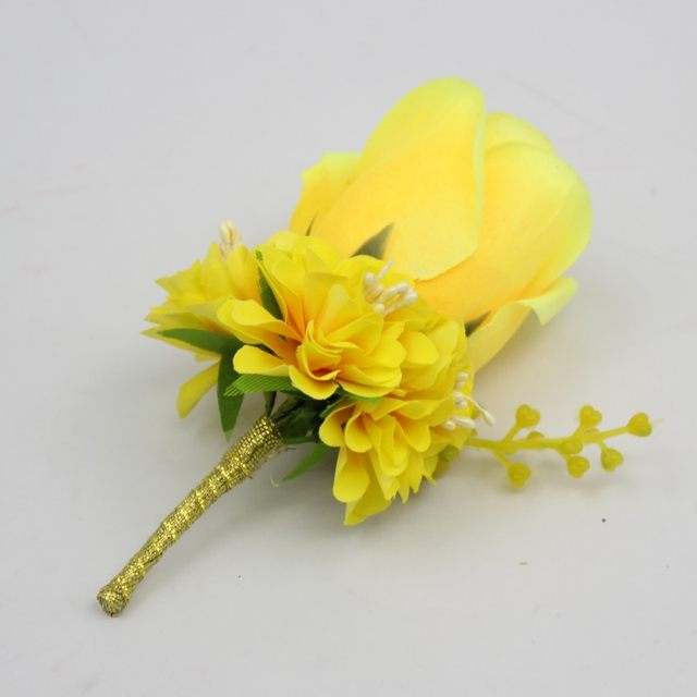 Online shop ivory white yellow blue wedding flowers groom ivory white yellow blue wedding flowers groom boutonniere best man groomsman pin brooch silk rose corsage suit decor accessories mightylinksfo