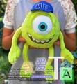 Бесплатная доставка 35 СМ Monsters Inc Монстры Университет Монстр Майк Wazowski плюшевые игрушки с крышкой для детей подарок