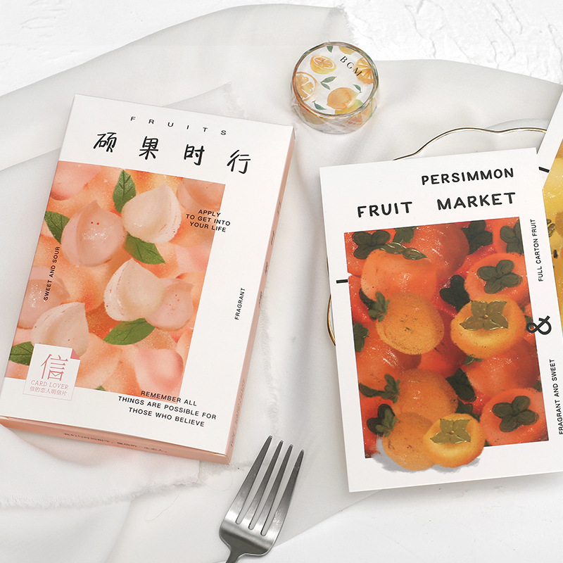 30 Sheets/Set Creative Fruit Market Series Postcard Greeting Card Birthday Gift Card Message Card