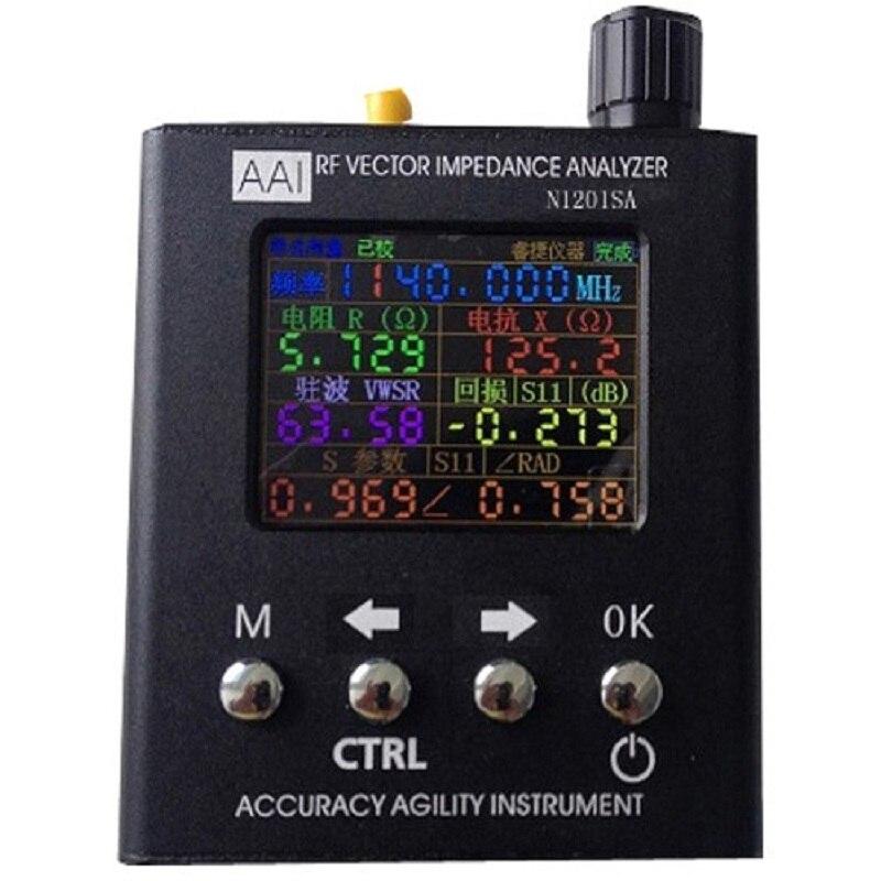 Novo Inglês Verison rf Vector Impedância Ant Swr Antena Analisador Medidor Tester 140 Mhz-2.7 Ghz N1201sa uv