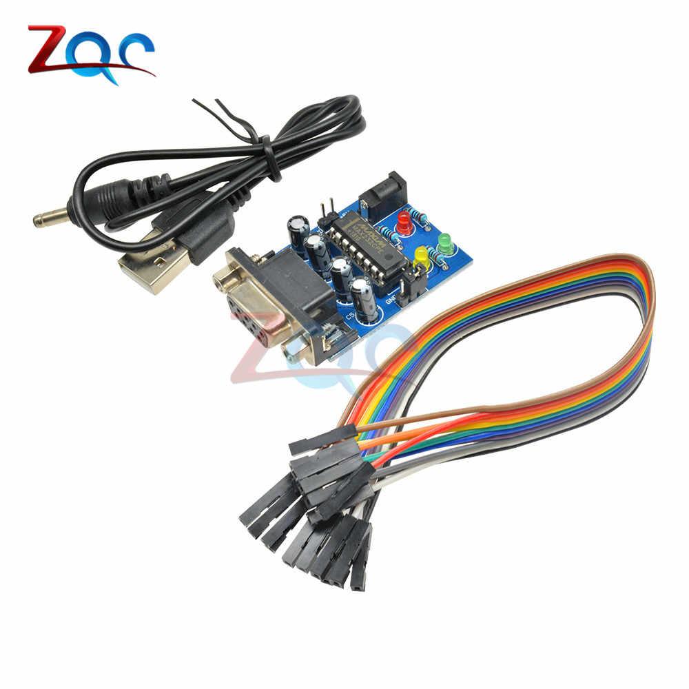 RS232 To TTL Converter Module COM Serial Board MAX232CPE Transfer Chip atmega16