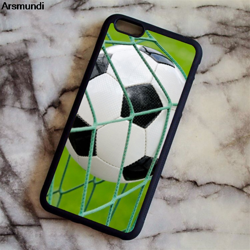 Arsmundi Personalized Number Name Soccer Foot Ball Phone Cases for iPhone 5S 6S 7 8 X for Samsung Case Soft TPU Rubber Silicone