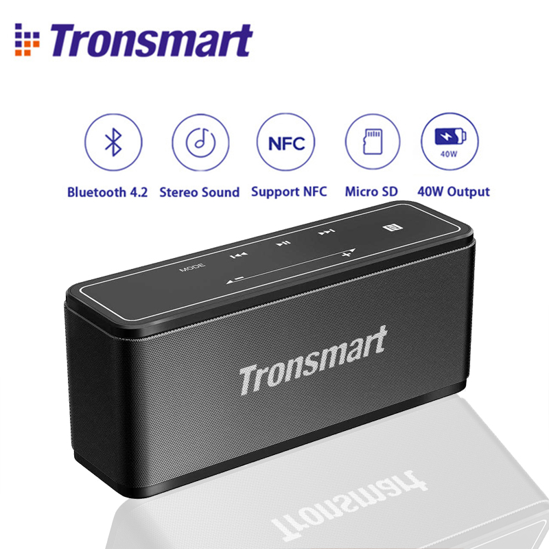 Original Tronsmart Element Mega Mini Bluetooth Speaker 40W DSP 3D Digital Sound outdoor Portable Wireless Speaker for Xiaomi tronsmart element t6 mini bluetooth speaker portable wireless speaker with 360 degree stereo sound for ios android xiaomi player