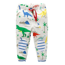 Littlemandy Dinosoaur Boys Pants Children Trousers 100% Cotton Autumn Winter Baby Clothes Sweaterpants Kids Leggings Britches
