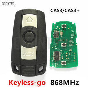 QCONTROL Keyless-go Remote Smart Key 868MHz for BMW 1/3/5 Series CAS3 X5 X6 Z4 Car with Chip Comfort Access Hands Free(China)