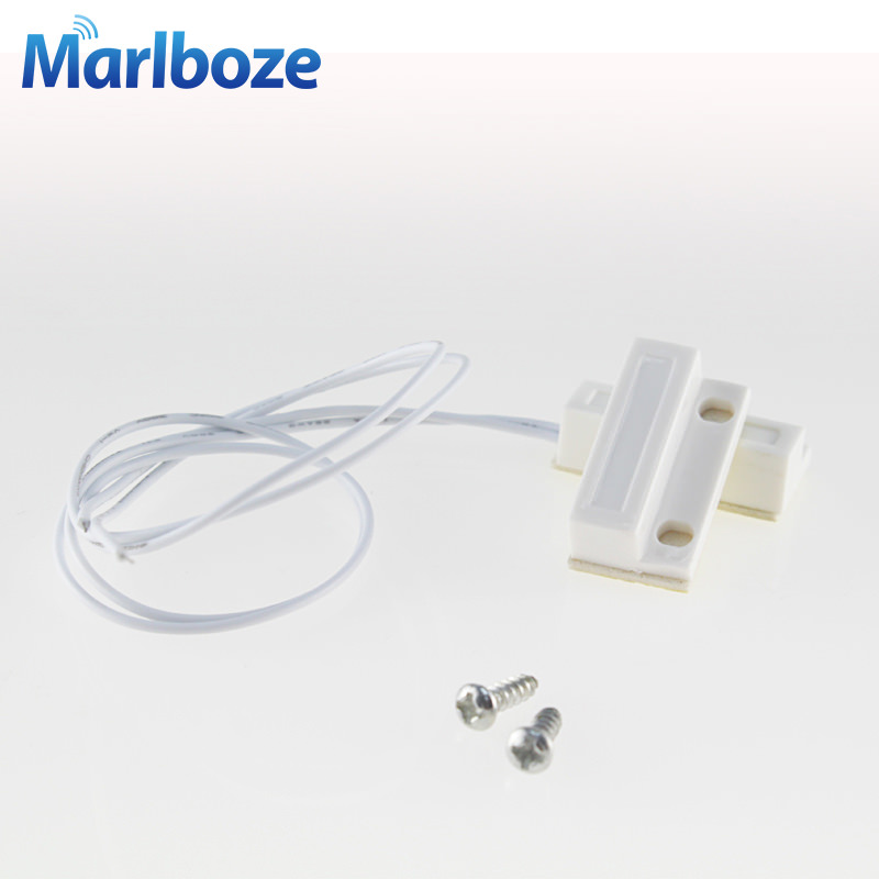 Free Shipping 1pcs Wired Door Window Sensor 330mm Wire Lengthen Randomly Magnetic Switch Home Alarm System Normally Closed NC