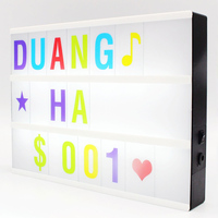 High A4 Size LED Combination Light Box Night Lamp DIY Black Letters Cards USB Port Powered Cinema Lightbox