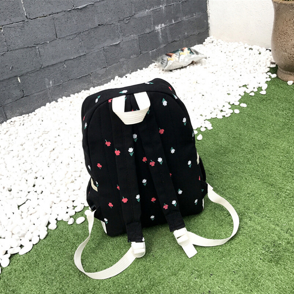 8b708824d3 Aelicy Four Sets Canvas Shoulder Bag Large Backpack Schoolbag For Youth  Girls Preppy Style Backpacks Mochila Escolar 0907-in Backpacks from Luggage    Bags ...