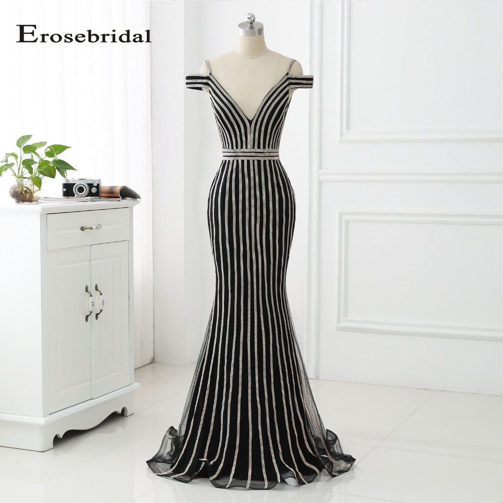 48 Hours Shipping 2019 Long Evening Dress Erosebridal Prom Women Party Gown Mermaid Dresses Vestido De