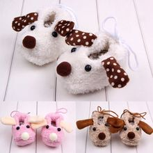 Sundae Angel baby girls shoes soft sole Cute Dog Patter Ear Design Cotton Animal infant girl first walkers toddler shoes 0-18M недорого