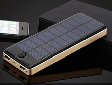 Portable Power Bank Solar Battery Charger 20000mah Mobile Powerbank with Solar Panel Bateria Externa Li Polymer 20000 mAh Thin