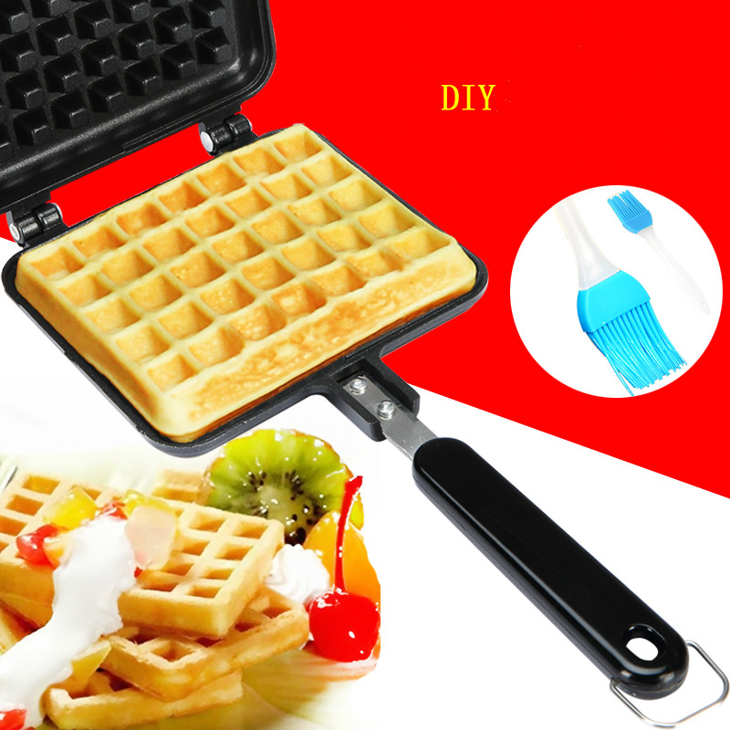 Waffle mold Home Not sticky pot Cake baking pan DIY Waffle machine Use open fire Baking tools diy cake printing mold