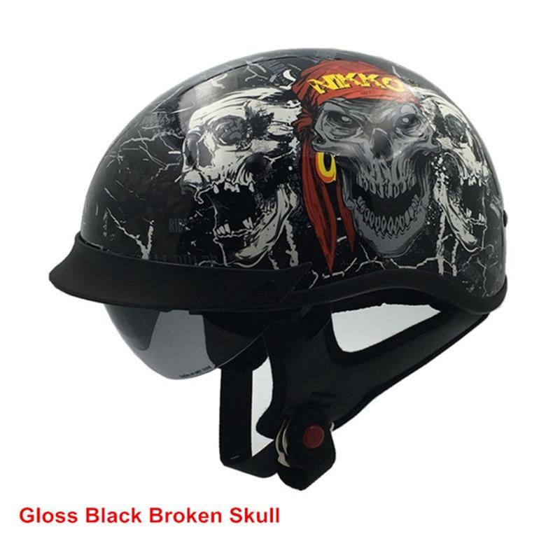 THH Harley casque ÉTÉ CASQUE Moto Motocross moitié casque professionnel lunettes de soleil Chopper vélo Casco Capacete S M L XL