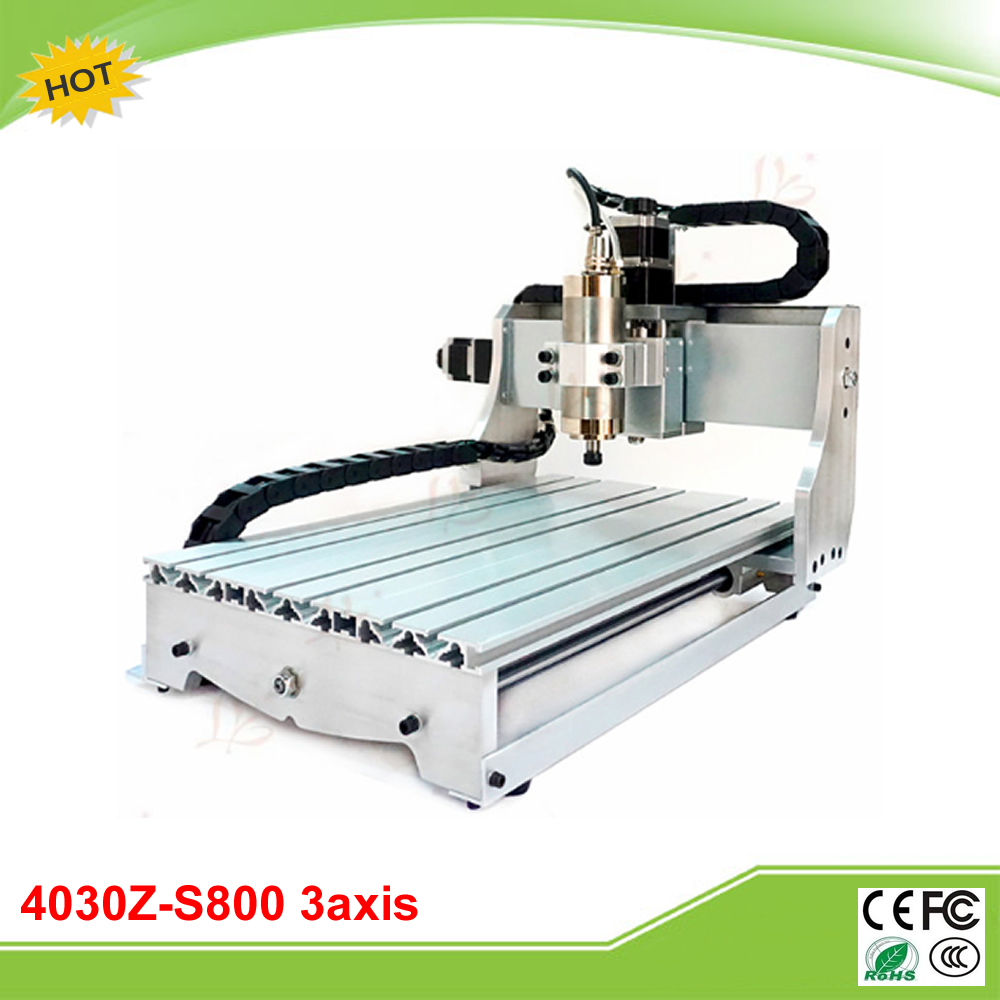 4030Z-S800 3 axis mini CNC milling machine 800W water cooling spindle free tax to EU cnc 3040z s 3 axis mini cnc router with 800w vfd water cooled spindle engraving lathe machine free tax to eu
