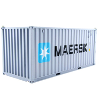 Collectible Diecast Toy Model Gift 1:20 Scale MAERSK 20 GP Truck,Shipping Container Model For Business Gift, Decoration