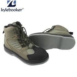 الرجال الصيد الصيد أحذية مقاومة للانزلاق تنفس مقاوم للماء التمهيد في الهواء الطلق المضادة للانزلاق الخواضون الخواضون الأحذية