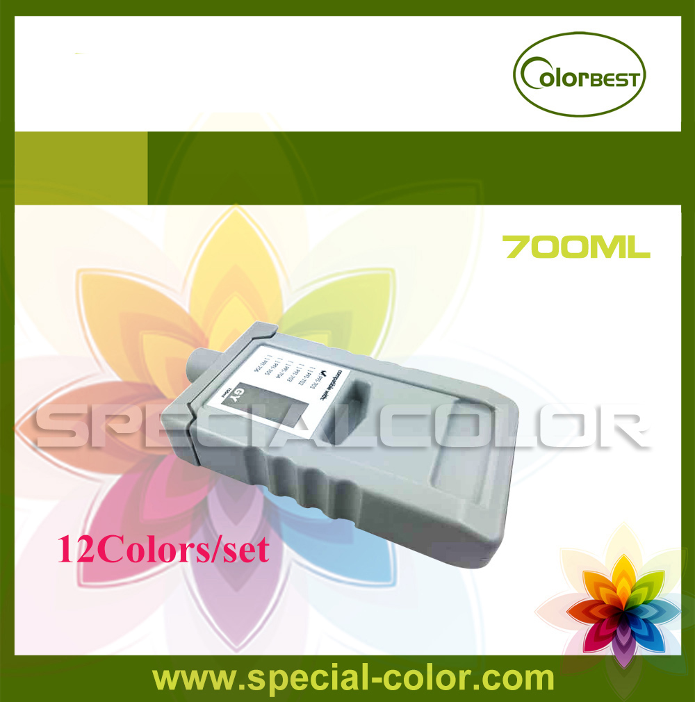 12Colors PFI-701 Pigment Ink Full Ink Cartridge with Chip for IPF 8000/8100/9000/9100 12 color set 700ml refillable ink cartridge for canon pfi 701 for canon ipf9000 8000 printer