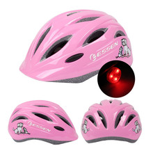ESSEN Kids Bicycle Helmet Outdoor Sports Safety Comfort Bike Helmets 52-56cm Adjustable Children boys Girl with Tailight