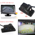 3in1 Sound Alarm Car Reversing Backup Rear View Camera With Video Parking Sensor + 4.3 inch LCD Auto Parking Monitor