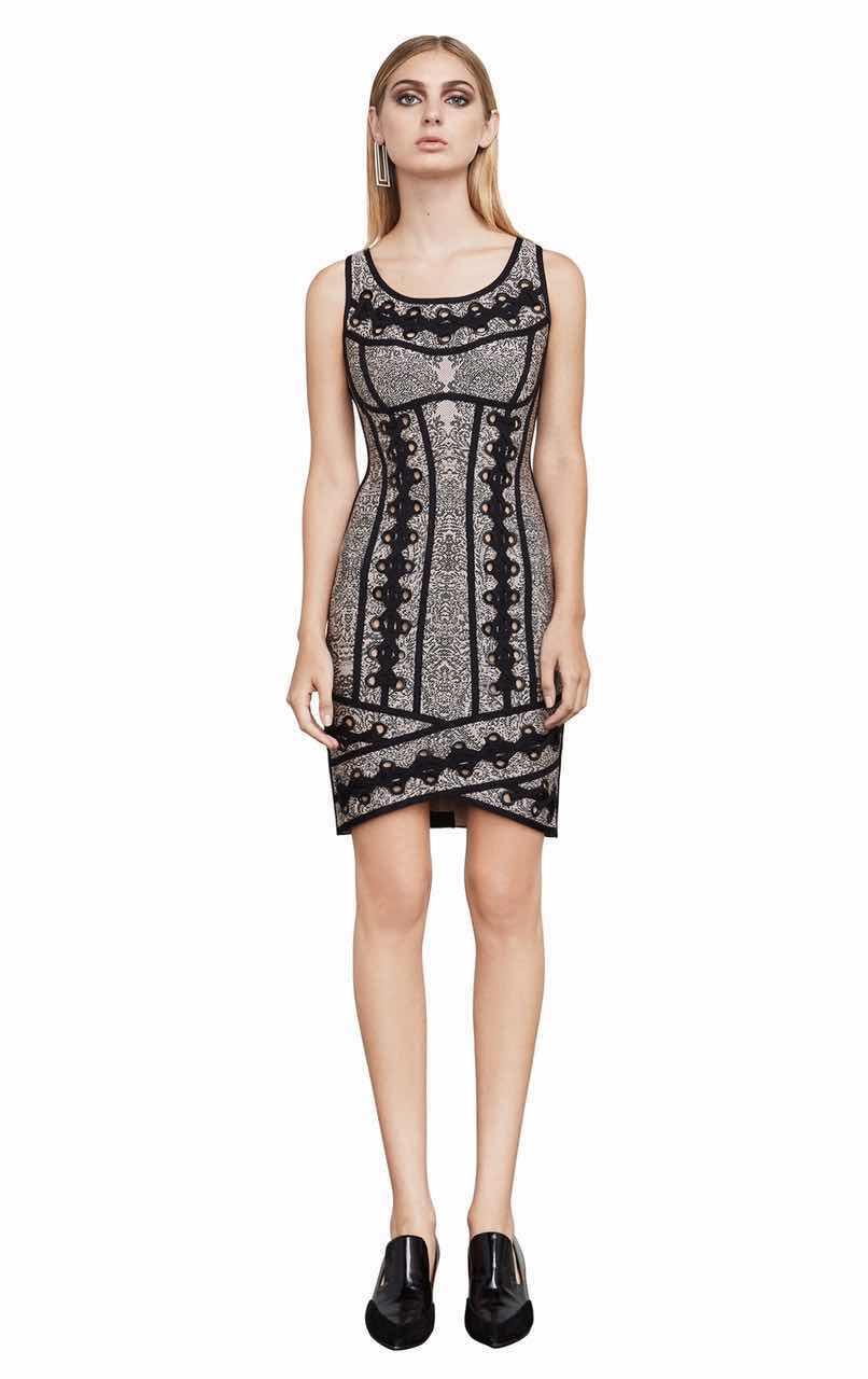 260703b9ac9 Одежда высшего качества с круглым вырезом Бандажное платье Винтаж принт  Sext Для женщин для ночного клуба
