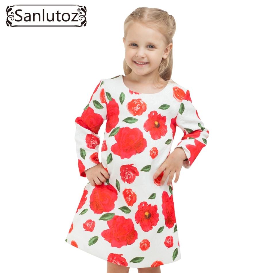 Sanlutoz d hiver fille robe en bas âge de fleurs enfants vêtements pour  filles marque de mode enfants vêtements parti de mariage de vacances 466ff55a4b3