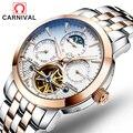 Multi-rotierenden tourbillon Geschäfts Voller Stahl Männer Uhr Tourbillon Mechanische Marke Luxus Automatische Selbst Wind Skeleton Uhren