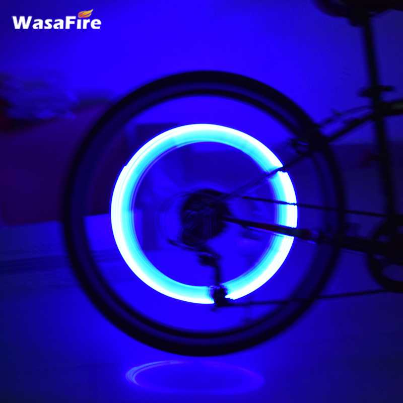 WsaFire New Bicycle Light Mountain Road Bike Tyre Tire Valve Caps Lights LED Wheel Spokes 1pc Cycling Bicycle Accessories Lamp