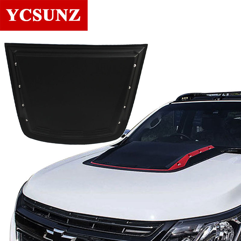 2017 Raptor Bonnet Scoop Hood For Chevrolet Colorado 2017 Black Bonnet Hood Cover For Holden Colorado 7 TrailBlazer 2017 Ycsunz custom hood protector black