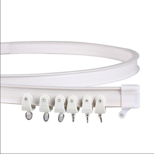 Curtain rail White Modern style Visible Track Nano Silencer ...