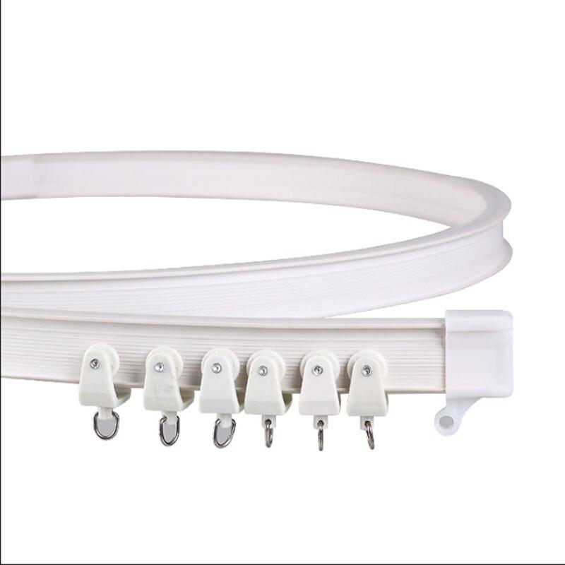 Vorhang schiene Weißen Moderne stil Sichtbar Track Nano Schalldämpfer Vorhänge zubehör Kunststoff Biegsamen Vorhang track