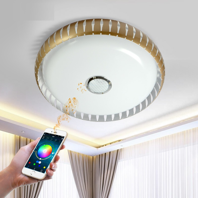 KINLAMS AC85-265V RGB+Cold White+Warm White 36W App Control LED Ceiling Light with Bluetooth & Music Modern LED Ceiling Lights