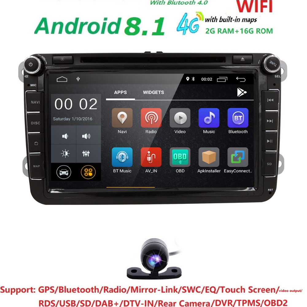 Hizpo 2 DIN Android Car Radio Stereo Player Tape Recorder For Skoda Octavia 2009-2012 Fabia Roomster Yeti Superb DTV-IN DAB+ OBD car dvd gps android 8 1 player 2din radio universal wifi gps navigation audio for skoda octavia fabia rapid yeti superb vw seat